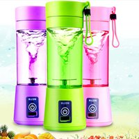 Wholesale Hand Held Mixers - New Personal Blender With Travel Cup USB Portable Electric Juicer Blender Rechargeable Juicer Bottle 380ML WX-C54