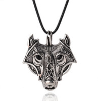 Wholesale wolf head jewelry resale online - Mens Necklaces Norse Vikings Pendant Necklace Norse Wolf Head Necklace Original Animal Jewelry Wolf Necklaces
