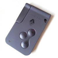 Wholesale Megane Smart Card - 3 buttons smart key card shell for renault megane II remote key cover card case