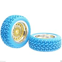 Wholesale Hsp Tires - RC HSP 2082-8019 Wheel Offset:9mm Rally Blue Tires For 1:10 On-Road Rally Car
