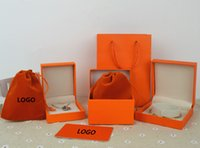 Wholesale Handmade Stamped Jewelry - Branded famous brand H bracelet and necklace box set with original Brand bags jewelry gift box free shipping PS4401