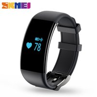 Wholesale heart battery monitor - wholesale Christmas gift New Smart Wrist Band Touch Screen Waterproof Heart Rate Monitor Wristband Fitness Tracker Bracelet for IOS Android