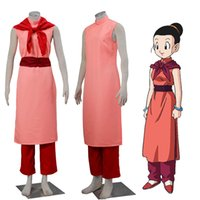 ejderha kostümü yapmak toptan satış-Orijinal Dragon Ball Cosplay Chi Chi Cos Kostüm Anime COS Tam Takım Custom Made Ücretsiz Kargo