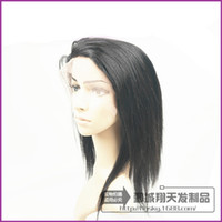 Wholesale Half Head Straight Wigs - Affordable Full Head Lace Front Wigs Silky Straight 14-18 inch Natural Color Indian Remy 100 Human Hair wholesale Price
