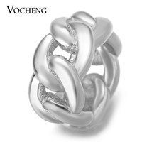 Wholesale Materials For Bracelets - VOCHENG Endless Charms Link Charms for Sheepskin Bracelet Interchangeable Gold Platinum Plated Brass Material Round Accessories VC-288