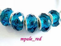 Wholesale Teal Crystals Wholesales - 50pcs Lot Teal Faceted Crystal Beads for Jewelry Making Loose Charms DIY Beads for Bracelet Wholesale in Bulk Low Price