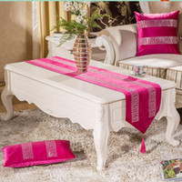 Wholesale Rhinestone Table Cloth - High End Luxury Velvet Rhinestone Home Decorations geometric print table runner cloth 8 colors for choose tablets placemat