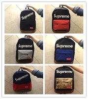 Wholesale Authentic Sport Bag - 2017Supreme X L V Backpack Authentic Quality Best AAA+ Christopher Men Women School Bag Sport Outdoor Packs Bags hot salehot sale