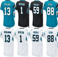 Wholesale Newton White - Women's jerseys 13 Kelvin Benjamin#1 Cam Newton 59 Luke Kuechly 88 Greg Olsen Panther#88 Rugby jersey Size: S-2XL White Blue Black