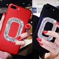 Wholesale diamond mobile phone cover - Luxury Bling Crystal Mobile Phone Bag Case Cover for iPhone 8 7 6s 6 Plus Shinning Rhinestone Diamond silicone Cases for iPhone X
