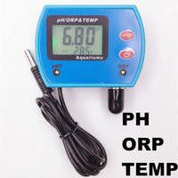 Wholesale Swimming Pool Test - Wholesale-new arrive Multi-parameter 3 in 1 pH meter ORP tester temperature for swimming pools water quality test with backlight