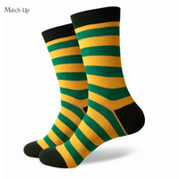 Wholesale 2016 new men colorful combed cotton socks stripe socks shipping for free US size
