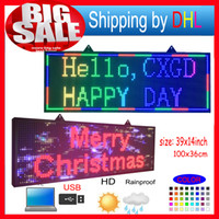Wholesale Led Programmable Scrolling Message Signs - FULL COLOR RGB Programmable Led Signs  P10 smd Outdoor led Scrolling Message Display   high brightness LED display