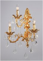 Wholesale 100 Guarantee Lights Crystal Wall Light Silver Wall Sconces Lamp Golden Wall Brackets Light