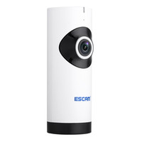 Wholesale Indoor Audio Systems - new Escam Moai QP110 Mini WiFi IP Camera HD 720P CCTV security Camera System P2P IR Two Way Audio Micro SD Card Slot