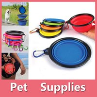 Wholesale Fall Foods - 1PC Travel Portable Collapsible Pets Cat Dog Food Water Feeding Bowl Dish Feeder With 8 Colors