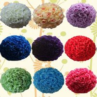 "Wholesale Encryption Rose Ball Wedding Decoration - 16"" 40CM Upscale Wedding Kissing Balls Artificial Encryption Rose Decorative Flower Ball for Wedding Festival Celebration Decorations"
