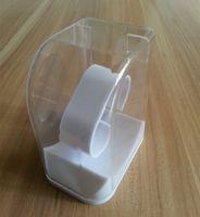 cajas de relojes originales de embalaje al por mayor-Deporte original Reloj de pulsera de estilo nuevo Reloj de pulsera con pantalla Box Box Cube Clear Plastic Box Blanco Reloj deportivo negro 5.5 * 7.5 * 9.4 cm