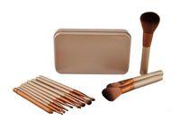 ingrosso scatole professionali di trucco-HOT Makeup Brushes 12 pezzi Set di pennelli per trucco professionale con scatola di ferro