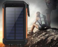 celular carregado de energia solar venda por atacado-Comércio solar de energia móvel dual faróis 20000 mAh miliampere carregador telefone móvel carga rápida preto, azul, verde, laranja