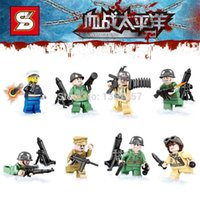 pacific war - SY614 War World The Pacific War Japan VS US Navy Army Minifigures Building Blocks Sets Models Figures Toys