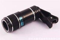 ingrosso zoom telescopio lente per il iphone-Obiettivo di macchina fotografica del telescopio del telefono dell'obiettivo dell'ottica dello zoom 12x 70 di Universal per l'iPhone per la lente di ingrandimento di ottopiedi della clip di Samsung con il supporto