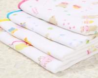 baby bunte handtücher groihandel-30 * 30 cm Kinder Baumwolle Taschentücher Bibulous Muster Druck Platz Handtuch Baby kinder für Bankett Dekoration Gedruckt Bunte
