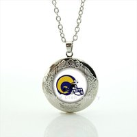 Wholesale man balls pictures resale online - Cool ball fan jewelry locket necklace St Louis Rams team Newest mix sport team helmet picture gift for men and boys NF054