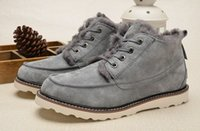 Wholesale Winter Leathers - Genuines Leathers original works of genuine pinnacle Fashion from top brand exclusive mold soft rubber outsole shoes leisure male Boots