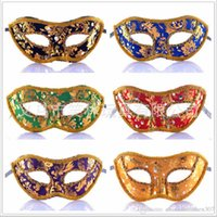 Wholesale Masquerade Masks Quality - Rhinestone Colourful Cloth Venice Mask Halloween Masquerade Masks Festive & Party Supplies Party Masks Good Quality