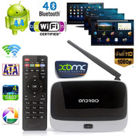 Wholesale Xbmc Quad Remote - 2GB 16GB Full HD 1080P CS918 Android 4.4 TV Box XBMC WiFi Quad-core Cortex A9 Tv Receivers RK3188T Set Top Box Remote Control V580