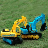 Wholesale Large Toy Excavator - XS New Kids Play House Large Strong Momentum Inertia Simulation Excavator Truck Toys Wholesale