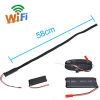 Wholesale 58CM Long Cable Z8S WIRELESS WIFI MINI SPY CAMERA MODULE COMPLETE DIY KIT FOR SMARTPHONE TABLET