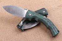 Wholesale Micarta Knife Handles - COLD STEEL dogleg dog leg knife green handle Folding Pocket Camping Survival Knife Xmas knife gift knives 1pcs freeshipping