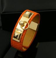 große lederarmbänder für männer großhandel-Hot Rock Punk Große Marke Leder Armband Armreif für Frauen Männer Mode pu-leder Armreif für geschenk