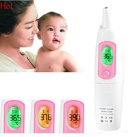 Wholesale Baby Digital Electronic Thermometer - Adult Infant Child Baby Electronic Digital Temperature Ears Forehead Oral Anal Armpit LCD Display Backlight Non-contact Thermometer 19479