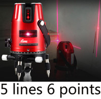 Wholesale Rotating Level - Wholesale-Free shipping Green laser multifunction laser cross line rotating self-leveling green laser level 360 5 line 6Point