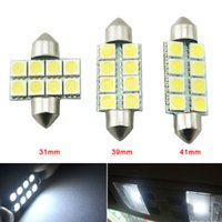 LEEWA Weiß Auto LED Lampen 31mm 39mm 41mm 5050 Chip 8SMD Auto Festoon Dome LED Leselicht # 3088