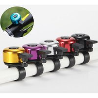 Wholesale Wholesale Sports Horns - 7 colors High quality Aluminium alloy metal bike handlebar bell ring cycling sport bicycle Horns accessories free shipping