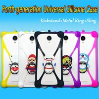 case lower - Lowest Factory Price Hot Sell D Cartoon Universal Silicone D Multi Function Phone Case Silicon Case Soft Cover Bracket Cases Metal Ring
