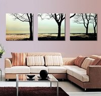 abstrakte bildende kunst großhandel-Modern Fine Abstract Tree Painting Giclée-Druck auf Leinwand Wandkunst Home Decoration Set30355