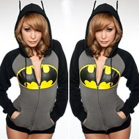 Wholesale Batman Sweatshirt Woman - 2016 New European and American Fashion Printed Explosion Models Sweatshirts Female Batman Female Fashion Printing Sweater
