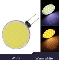 12v deniz soğanları sıcak beyaz toptan satış-G4 LED 30 Cips DC12V COB Sıcak Beyaz / Beyaz LED kristal chandilier Lamba Işık Beyaz Halojen Lamba Spot Ampul RV tekne deniz mısır ampuller