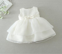 Wholesale Newborn Christening Gowns - New 2016 retail Newborn baby girl Baptism Dress Christening Gown kids Girls' party Infant Princess wedding summer dresses