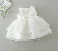 vestido de batismo recém-nascido venda por atacado-Novo 2016 varejo bebê Recém-nascido menina Batismo Vestido de Batismo Vestido de festa Das Meninas Dos Miúdos Infantis Princesa vestidos de verão de casamento