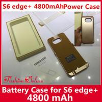 Wholesale Best Wholesale Power Banks - External Battery Case Power Case 4800mAh for S6 Edge Plus Best Portable Backup Charger Power Bank Case Pack for Samsung S6 Edge Plus