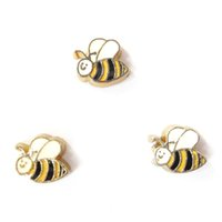 Wholesale European Beads Bee - cute bee charms, floating charms for living locket, 20pcs lot, free shipping--98