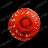 Wholesale Electric Guitar Parts Knobs - 06 Red Guitar Parts Electric guitar knob cap potentiometer cap musical instruments accessories