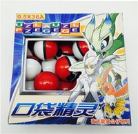 Wholesale Hot Toys Action - Hot sale 36Pcs Lot ABS classic Action Anime Figures Poke balls  PokeBall Fairy Ball Super Ball Master Ball Kids Toys Gift