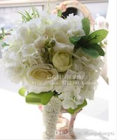 Wholesale Chinese Classes - Newest Wedding Bouquets Beautiful Handmade Artificial Organza Roses First Class Quality Free Shipping Brides Bouquets SH14092500018